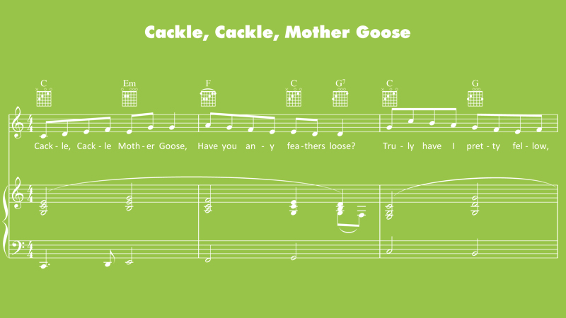 Image for Cackle, Cackle, Mother Goose – Sheet Music