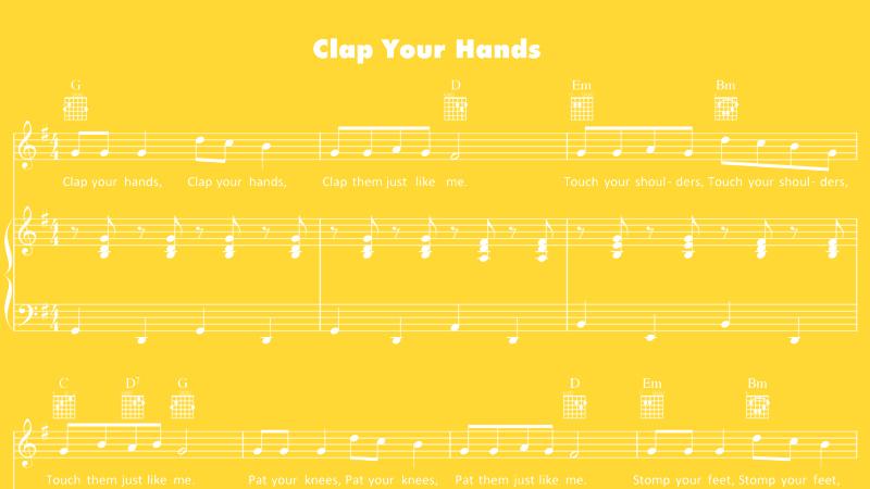 nursery rhymes sheet music pdf
