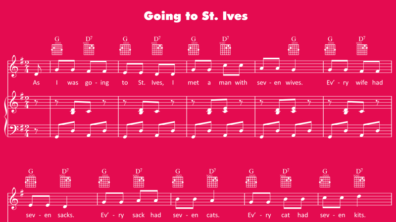 Image for Going to St. Ives – Sheet Music