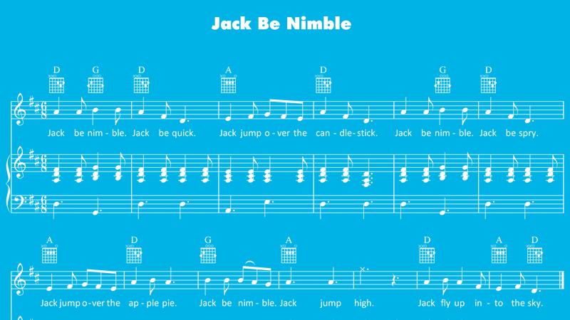 Image for Jack Be Nimble – Sheet Music