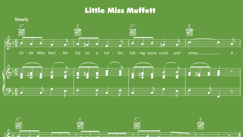 Image for Little Miss Muffet – Sheet Music