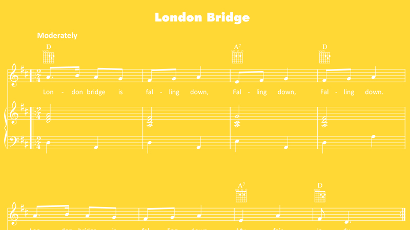 Image for London Bridge Is Falling Down – Sheet Music