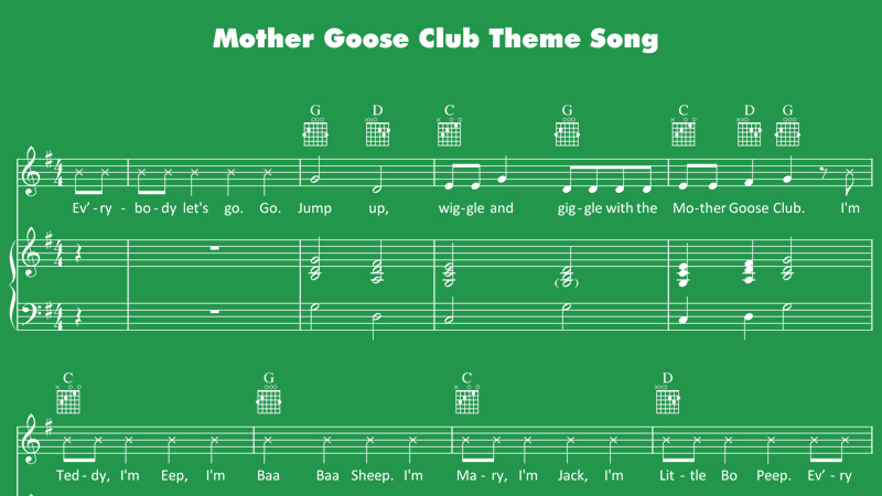 Image for Mother Goose Club Theme Song – Sheet Music