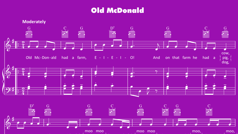 Old MacDonald Had a Farm lyrics