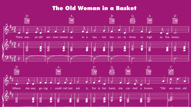 Image for Old Woman in a Basket – Sheet Music