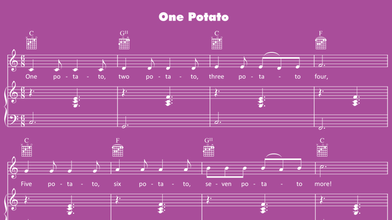 Image for One Potato, Two Potato – Sheet Music