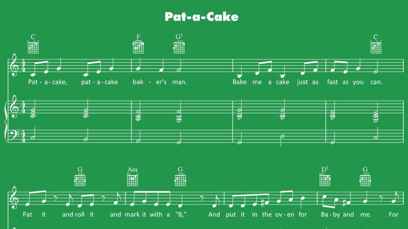 Image for Pat-a-Cake – Sheet Music