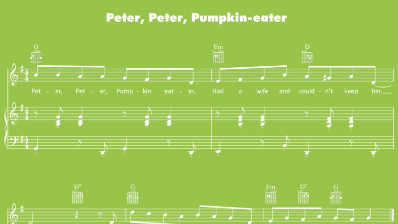 Image for Peter, Peter, Pumpkin Eater – Sheet Music