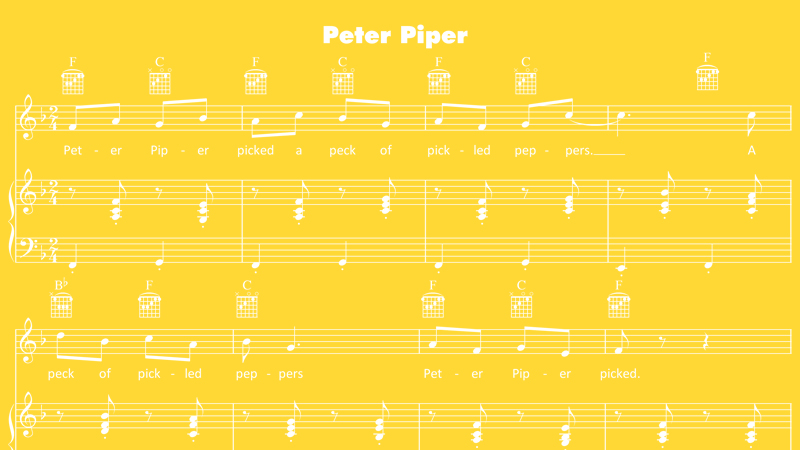 Image for Peter Piper – Sheet Music