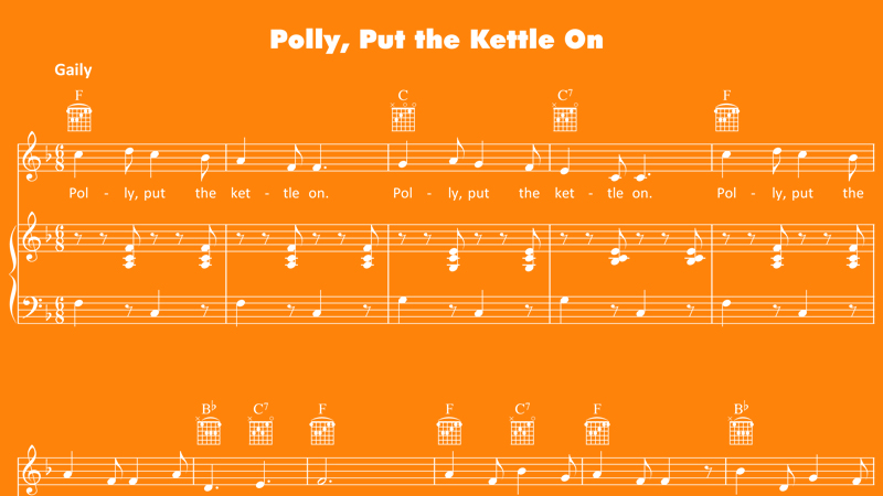 Image for Polly, Put The Kettle On – Sheet Music
