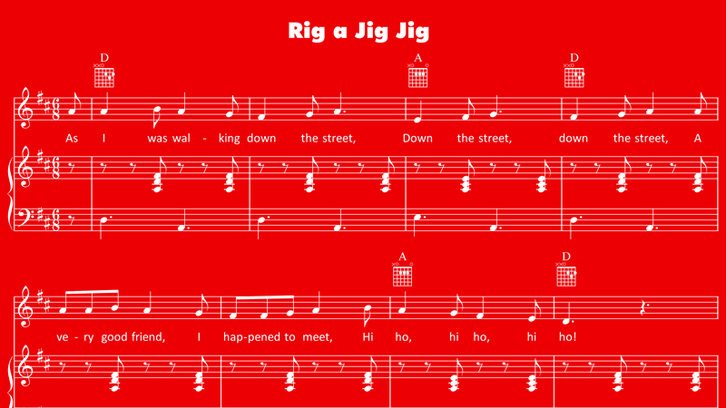 Image for Rig-a-Jig-Jig – Sheet Music