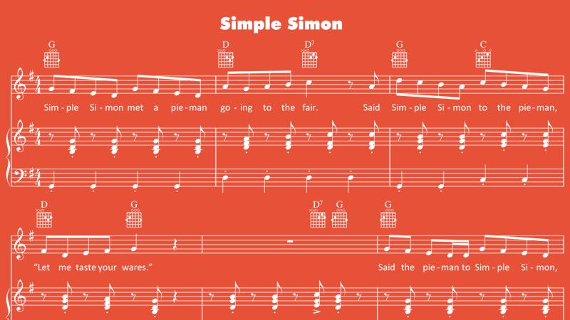 Image for Simple Simon – Sheet Music