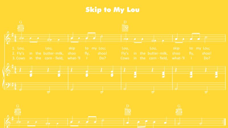 skip to my lou sheet music