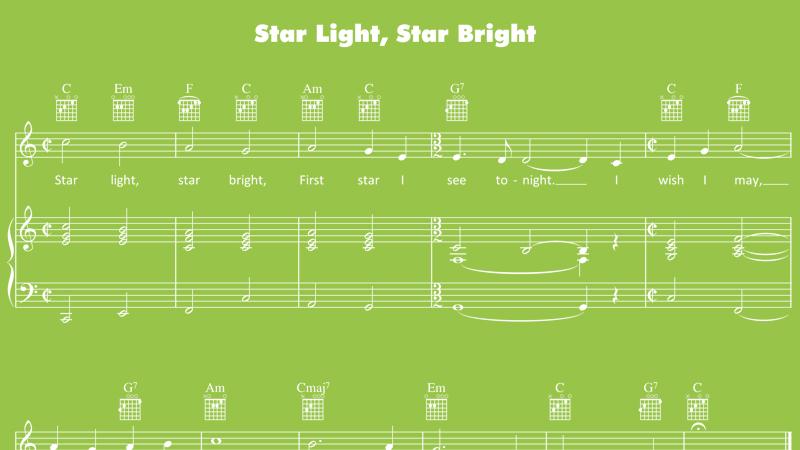 Image for Star Light, Star Bright – Sheet Music