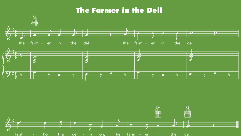 Image for The Farmer in the Dell – Sheet Music