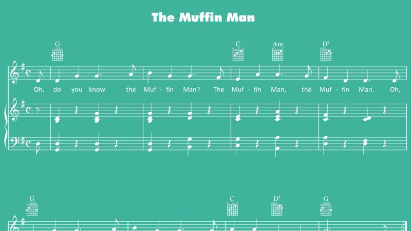 Image for Muffin Man – Sheet Music