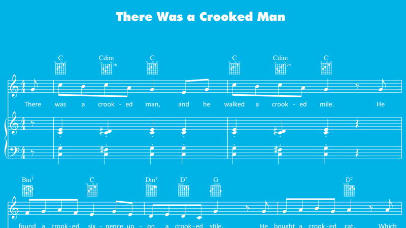 Image For There Was A Crooked Man Sheet Music Activities Nursery Rhymes