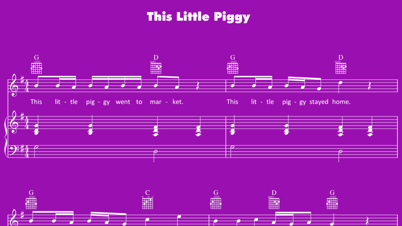 Image for This Little Piggy – Sheet Music