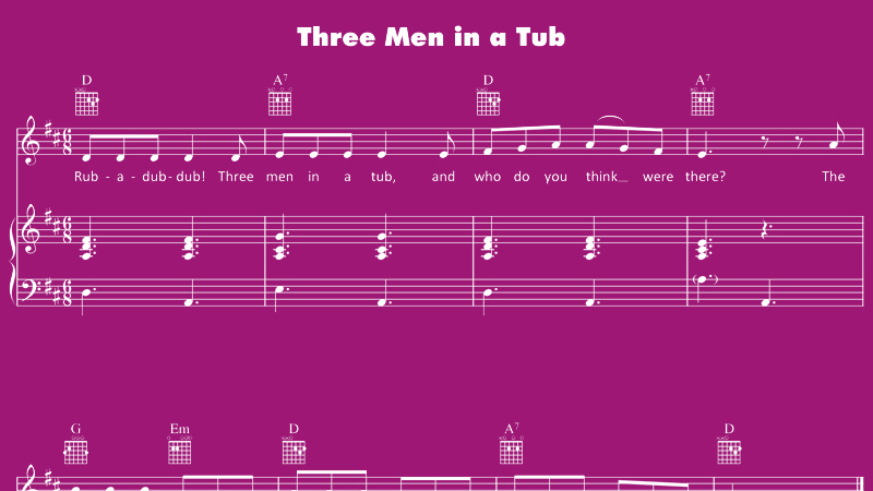 Image for Three Men in a Tub – Sheet Music