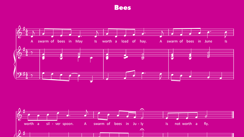 Image for Bees – Sheet Music