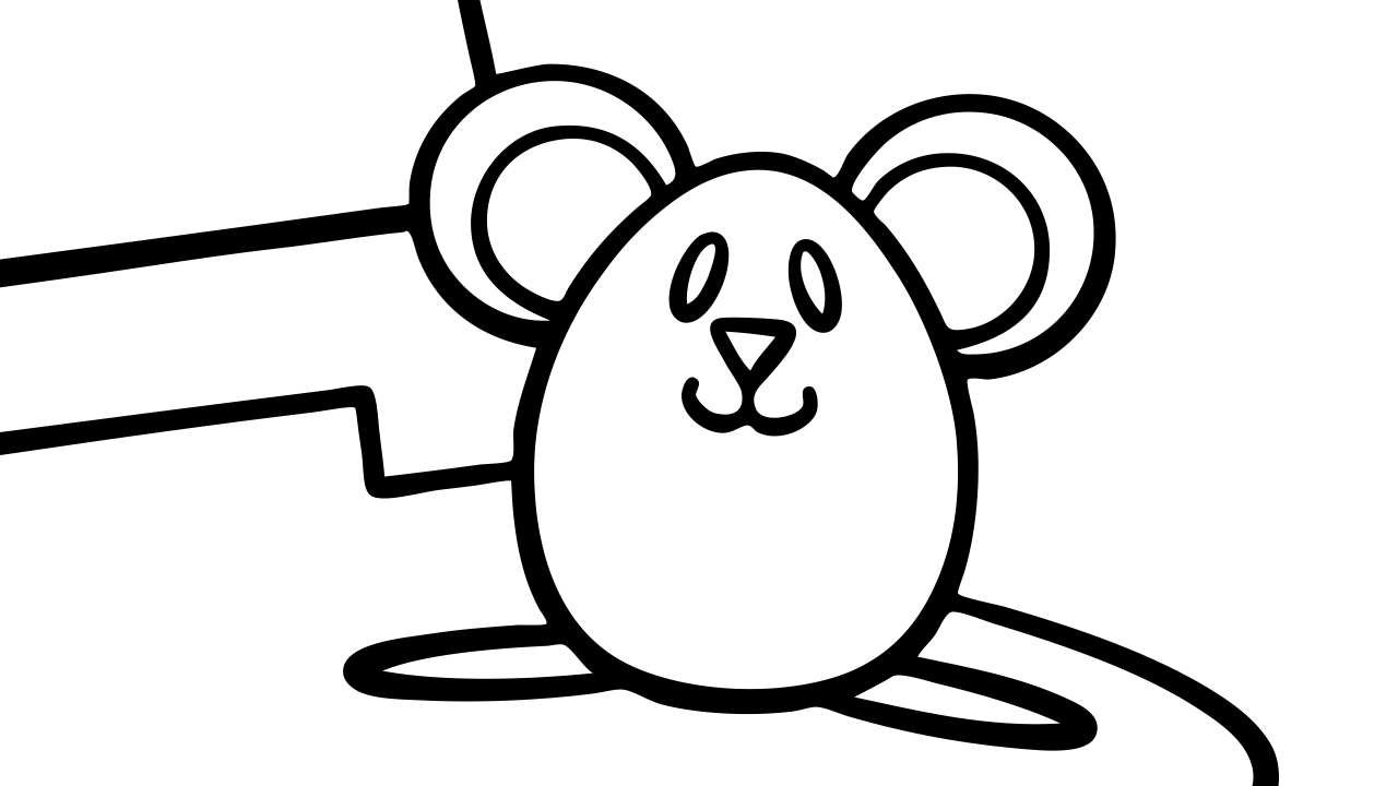 hickory dickory dock - coloring page