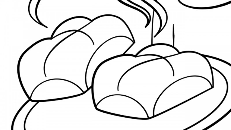 Image for Hot Cross Buns – Coloring Page