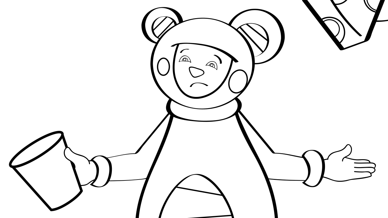 if all the world were paper - coloring page