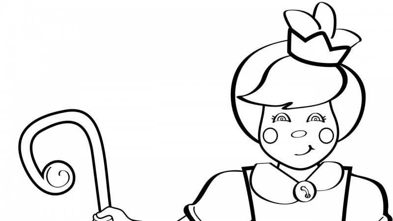 Image for Little Bo Peep – Coloring Page