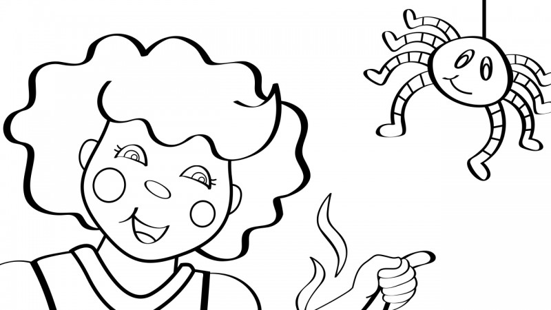 image for little miss muffet coloring page