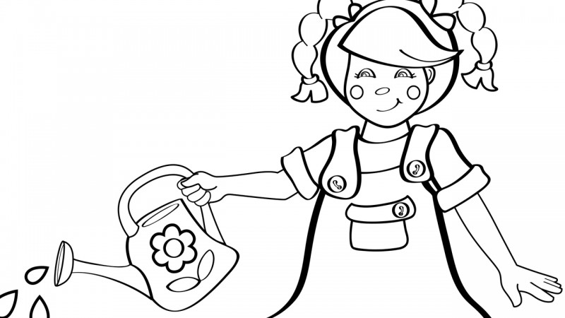 Image for Mary, Mary, Quite Contrary – Coloring Page