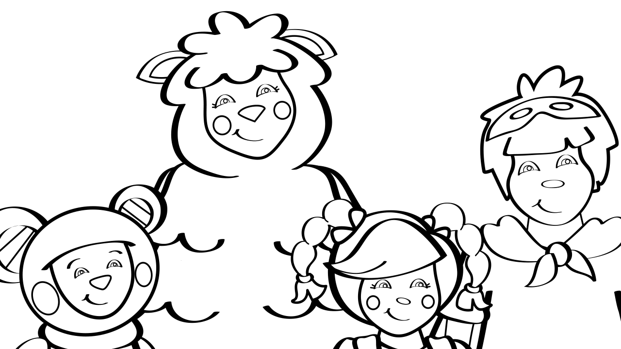 Mother Goose Club Theme Song Coloring Page