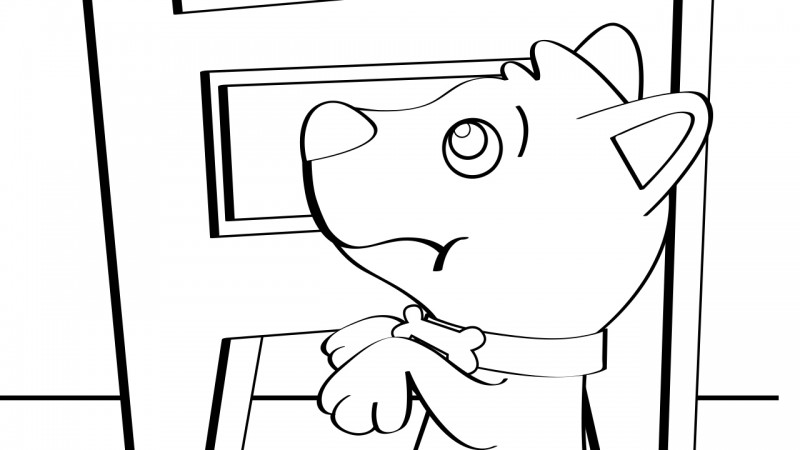 Image for Old Mother Hubbard – Coloring Page