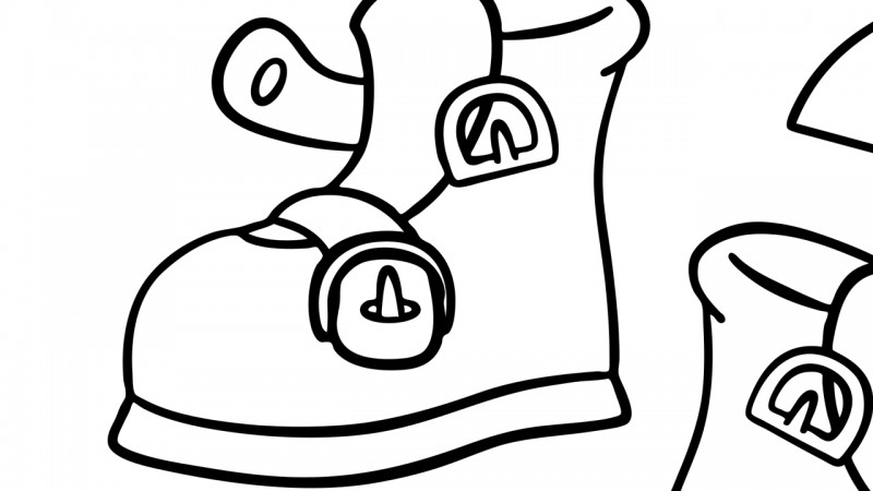 graphic relating to One Two Buckle My Shoe Printable identified as A single, 2, Buckle My Shoe - Coloring Website page - Mom Goose Club