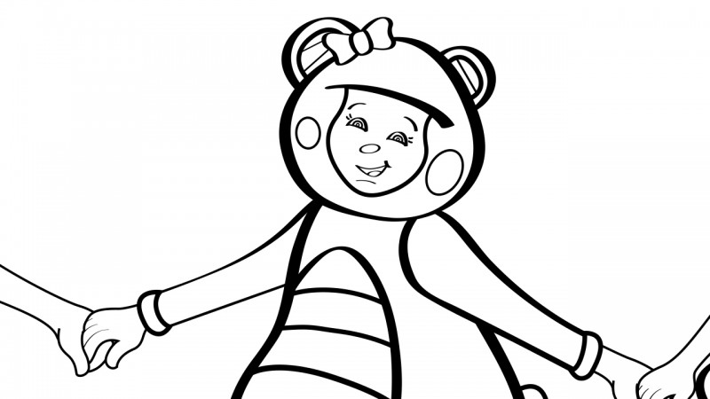 Image for Ring Around the Rosy – Coloring Page