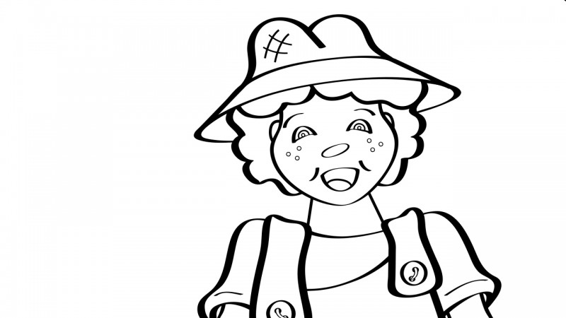 Image for The Farmer in the Dell – Coloring Page