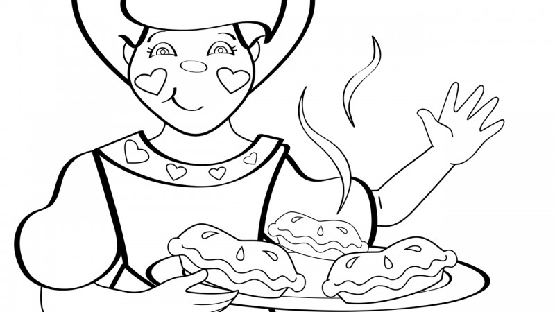 Image for The Queen of Hearts – Coloring Page