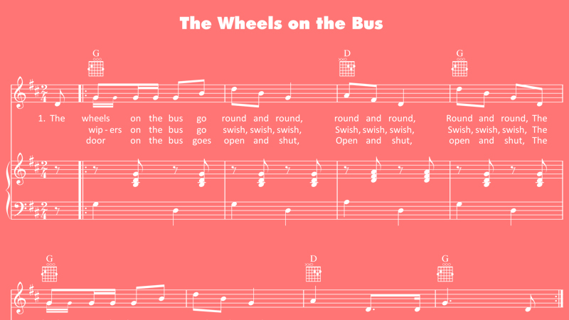The Wheels on the Bus lyrics