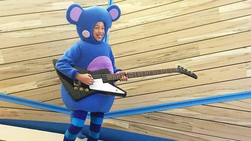 Arthur rockin' on guitar.