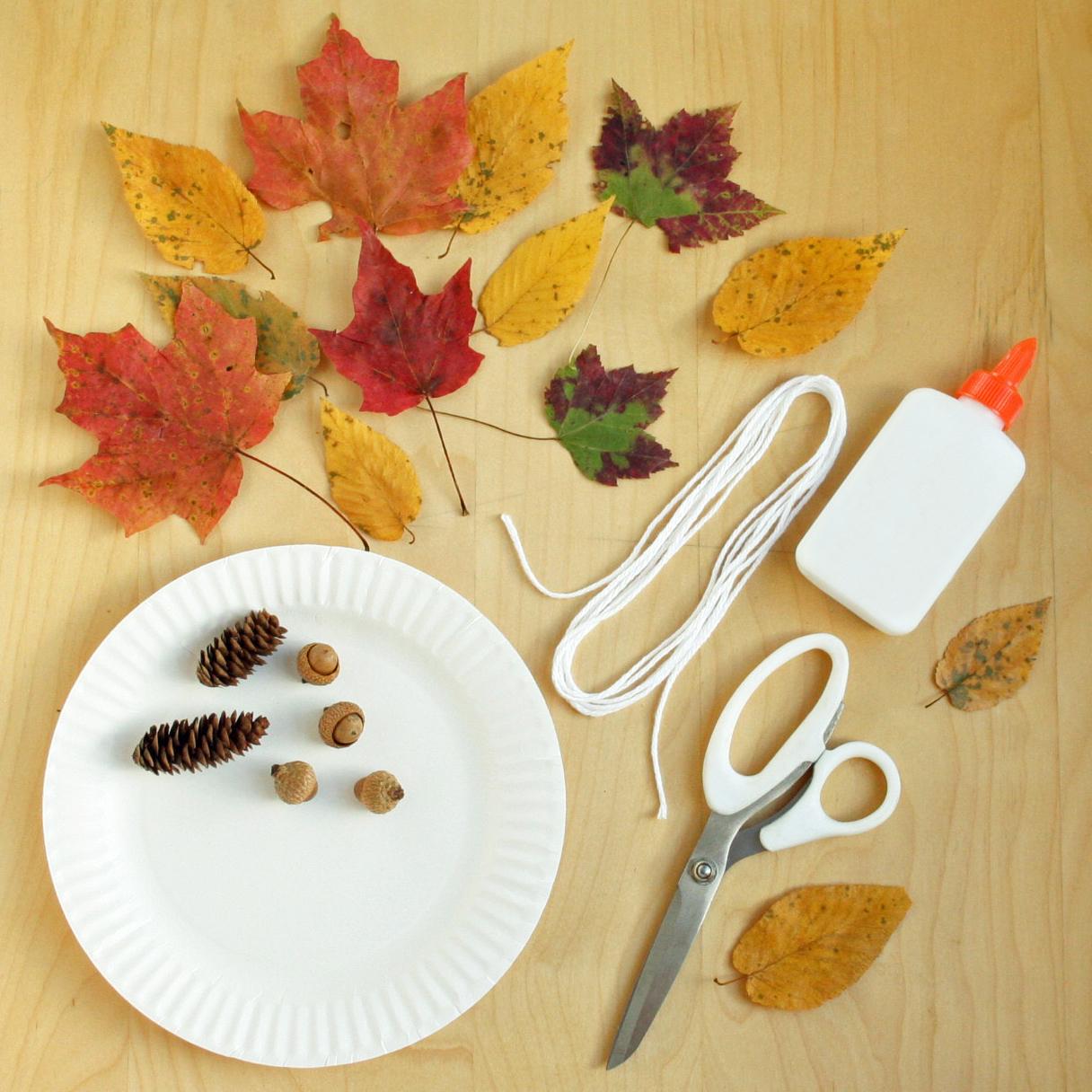Fall wreath craft materials