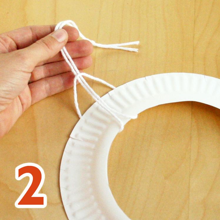 Fall wreath craft step 2