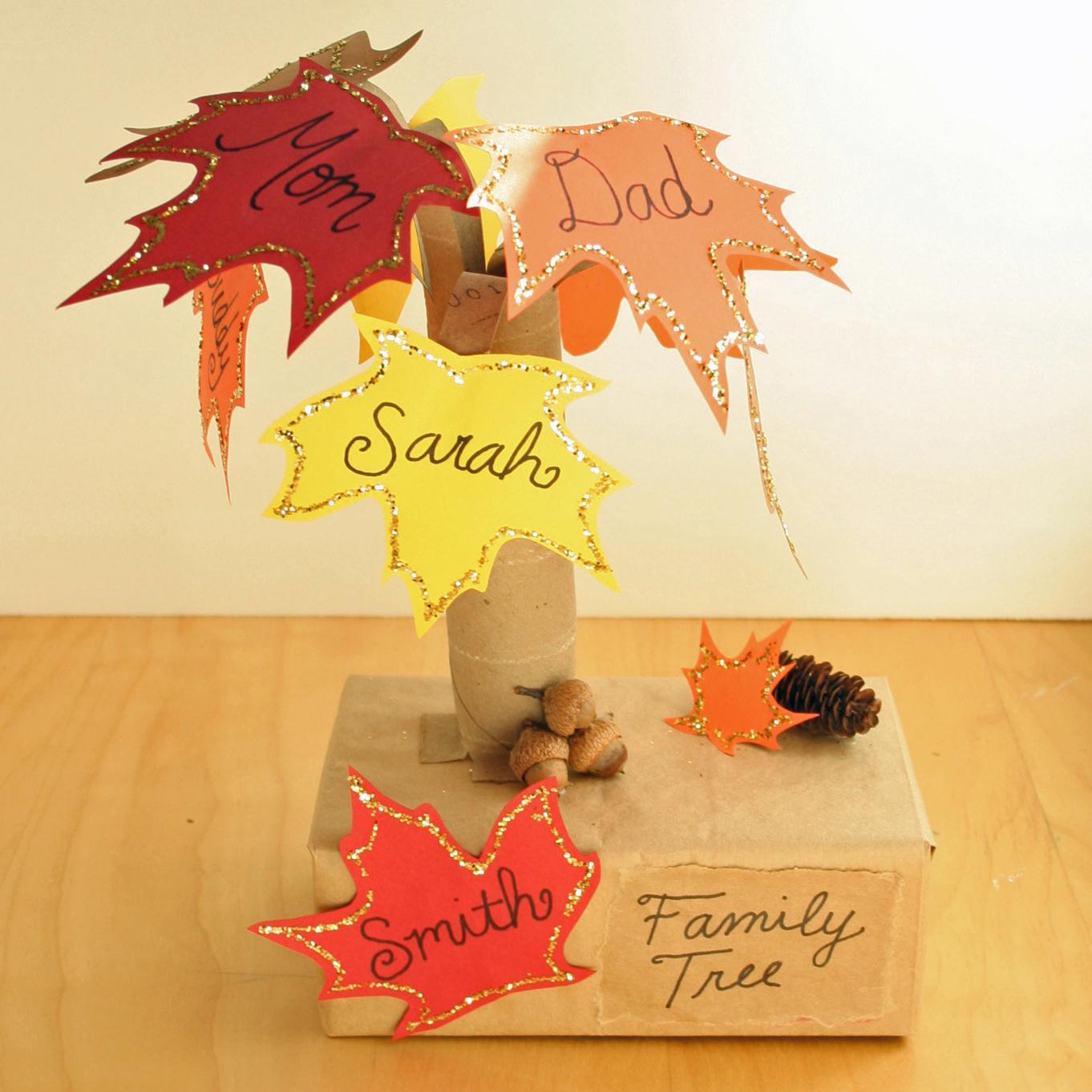 Fall tree craft family
