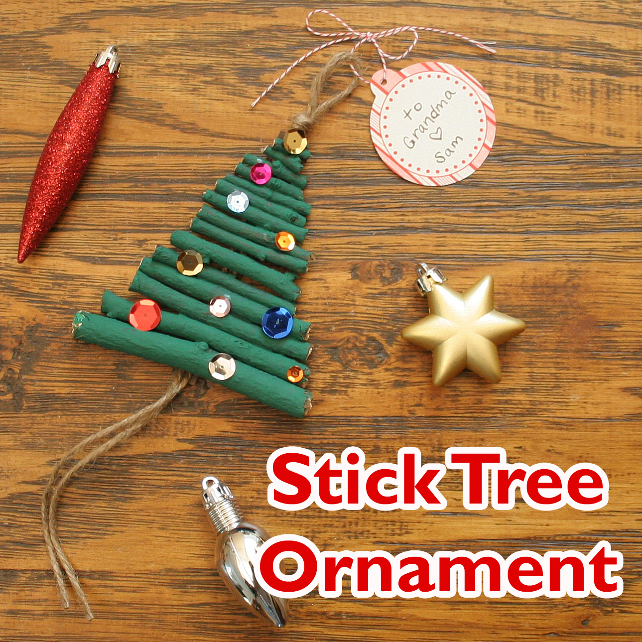 Christmas Tree Ornament Craft final
