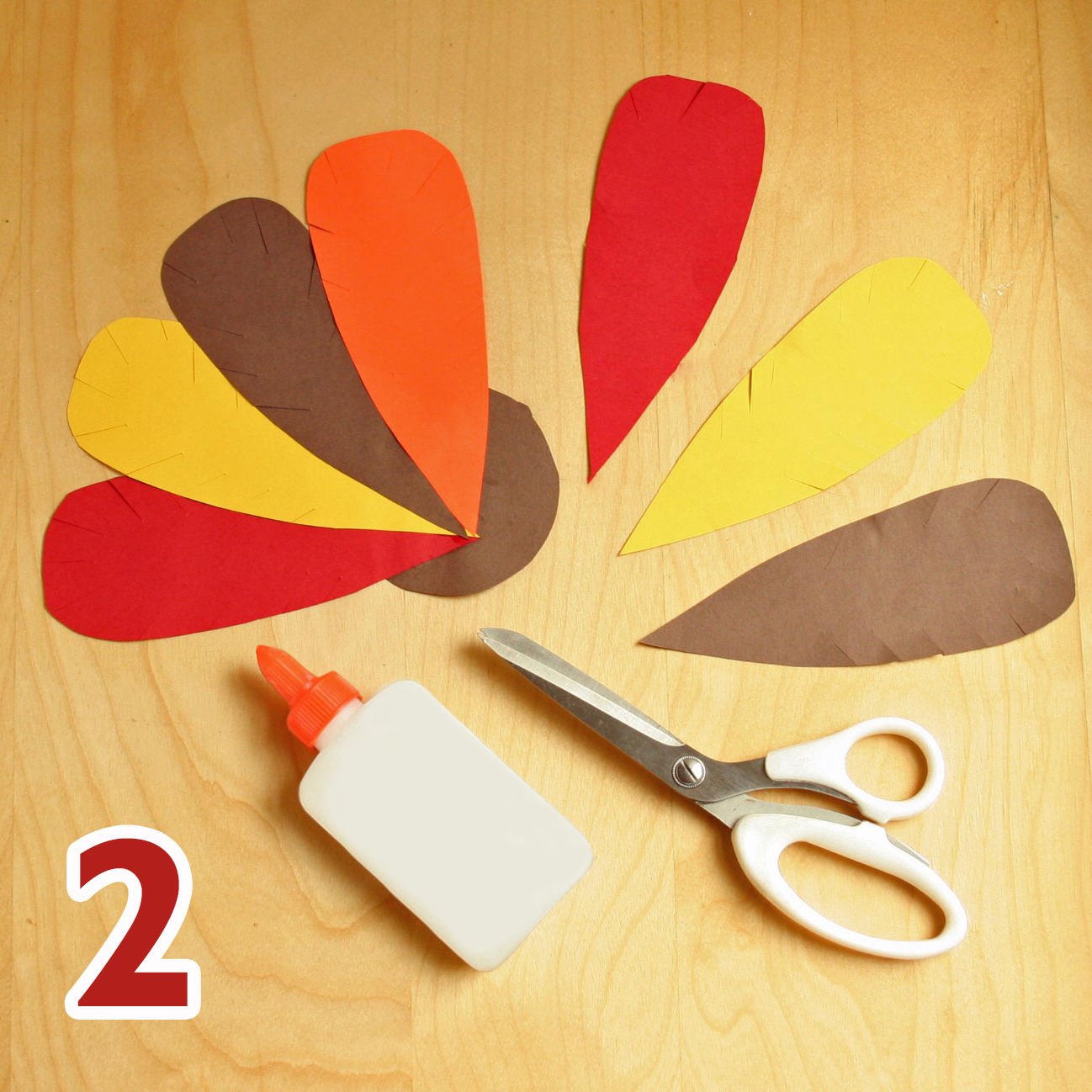 Thanksgiving turkey craft step 2