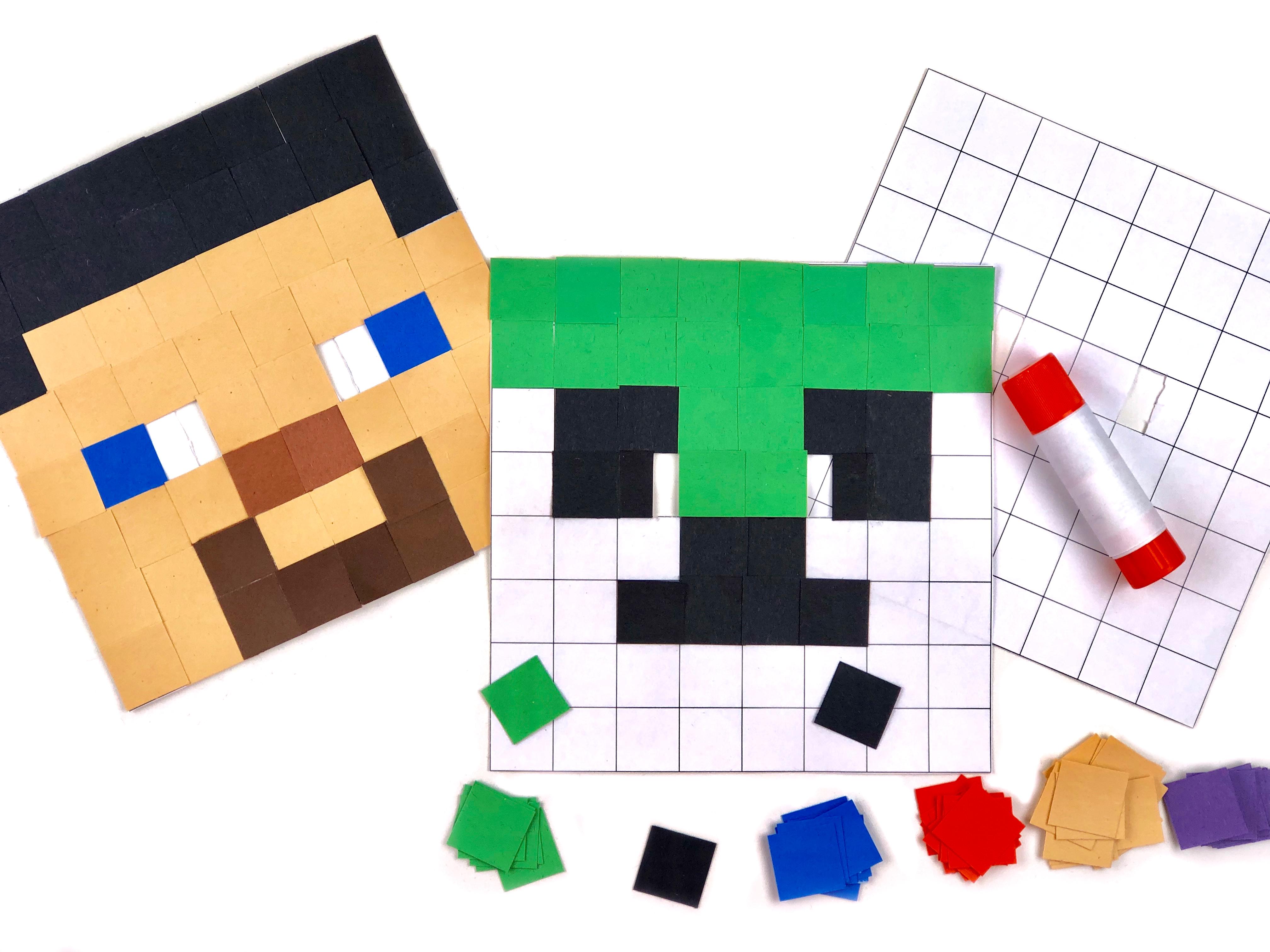 Minecraft Mask Craft step 1