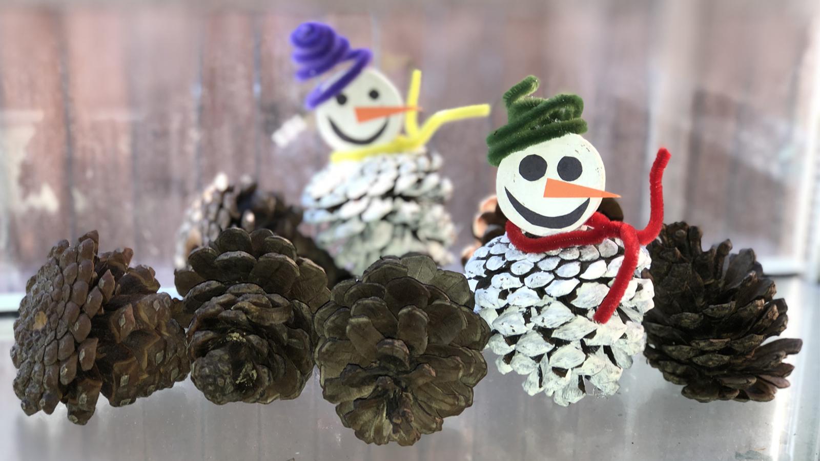 Pine Cone Snowman Craft