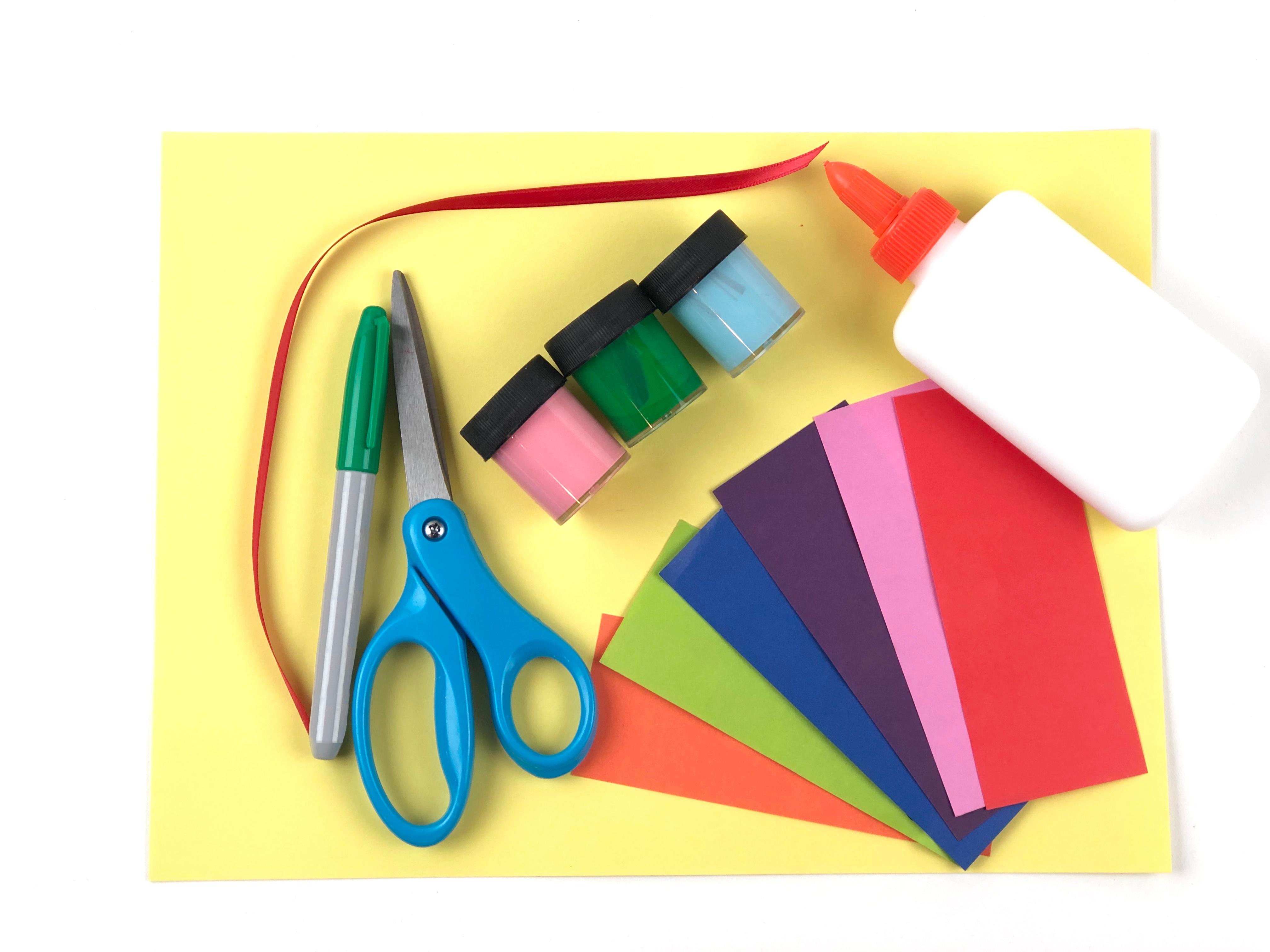 Valentine's Day Card Craft materials