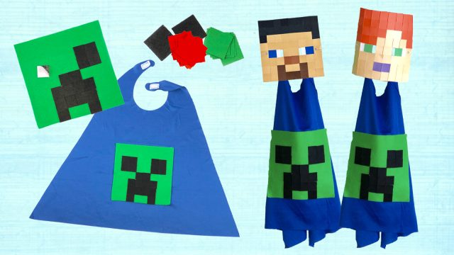 Minecraft Mask and Cape Craft