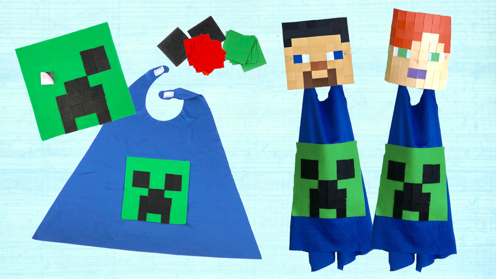 Minecraft Mask and Cape Craft