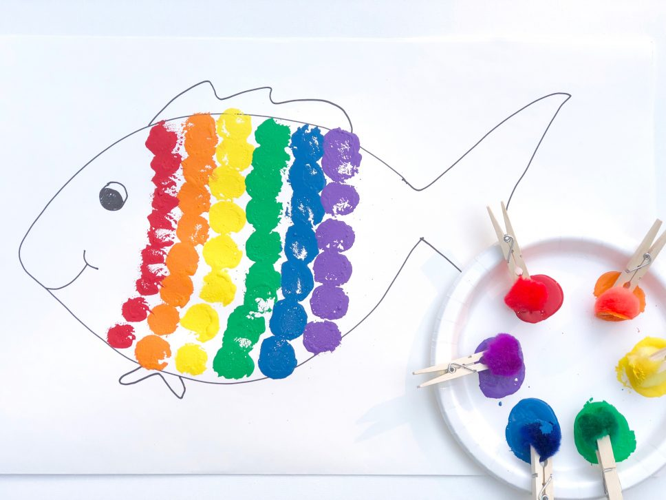 Rainbow Fish Craft step 3