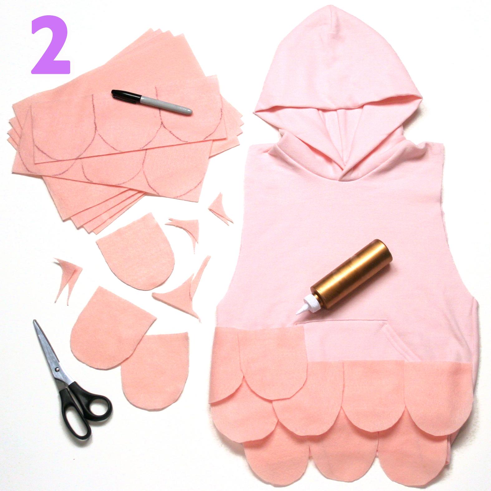 Baa Baa costume step 2